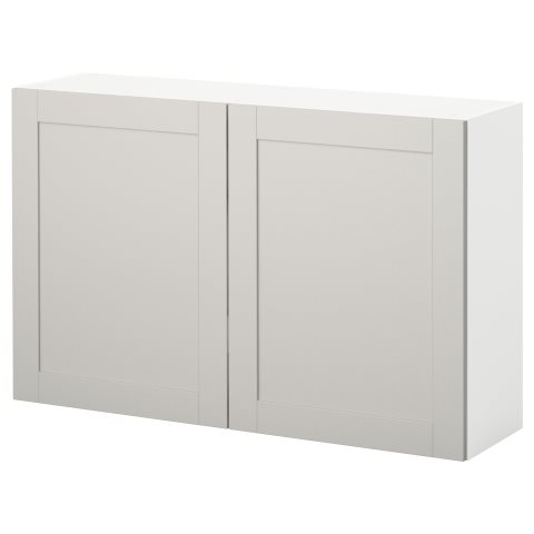 KNOXHULT wall cabinet with doors, Grey | IKEA Cyprus