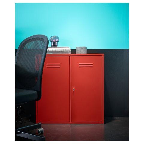 IVAR cabinet with doors, Red | IKEA Cyprus