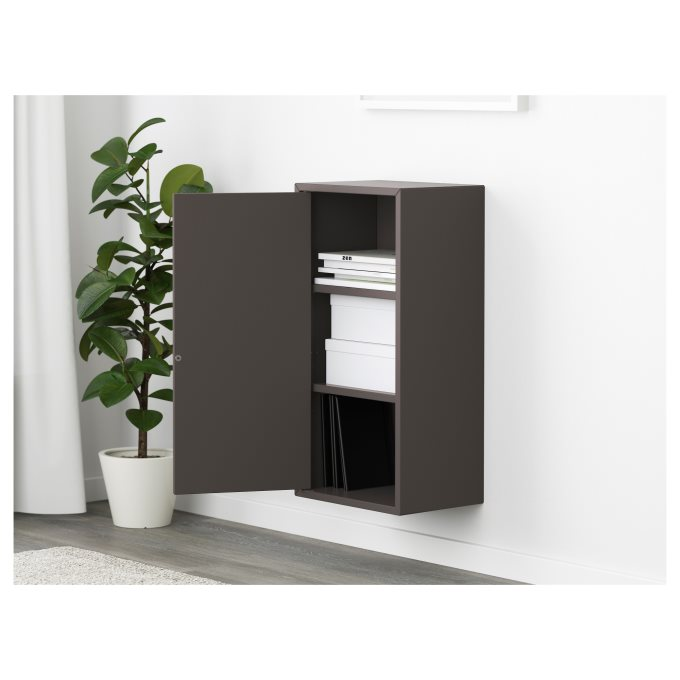 EKET cabinet with door and 2 shelves, Grey | IKEA Cyprus