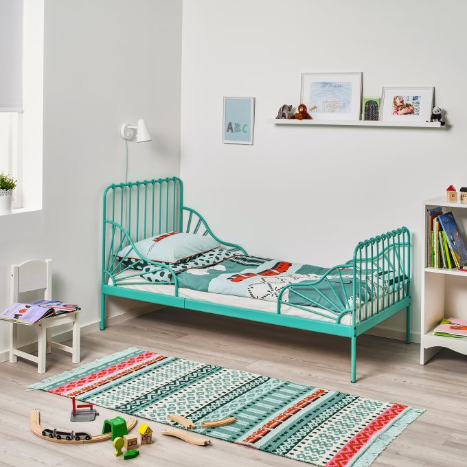 Minnen Extendable Bed Turquoise Ikea Cyprus