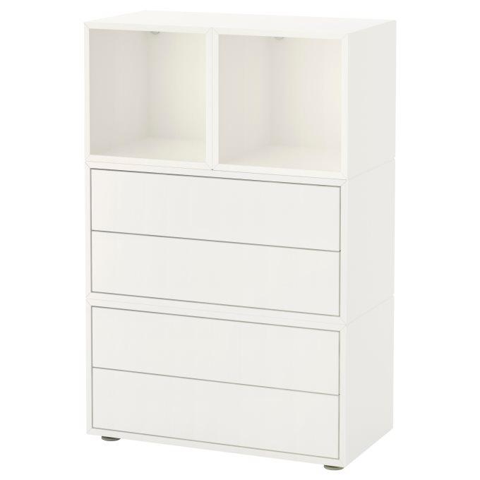 EKET cabinet combination with feet, White | IKEA Cyprus