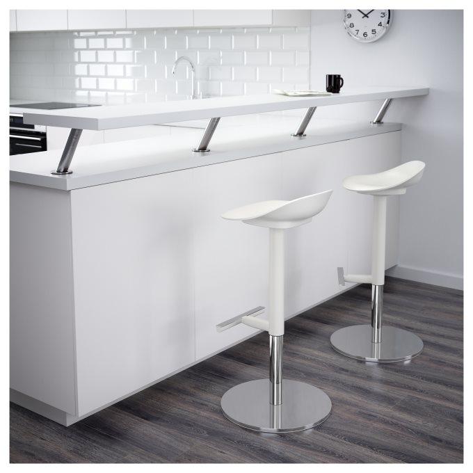 janinge bar stool white  ikea cyprus