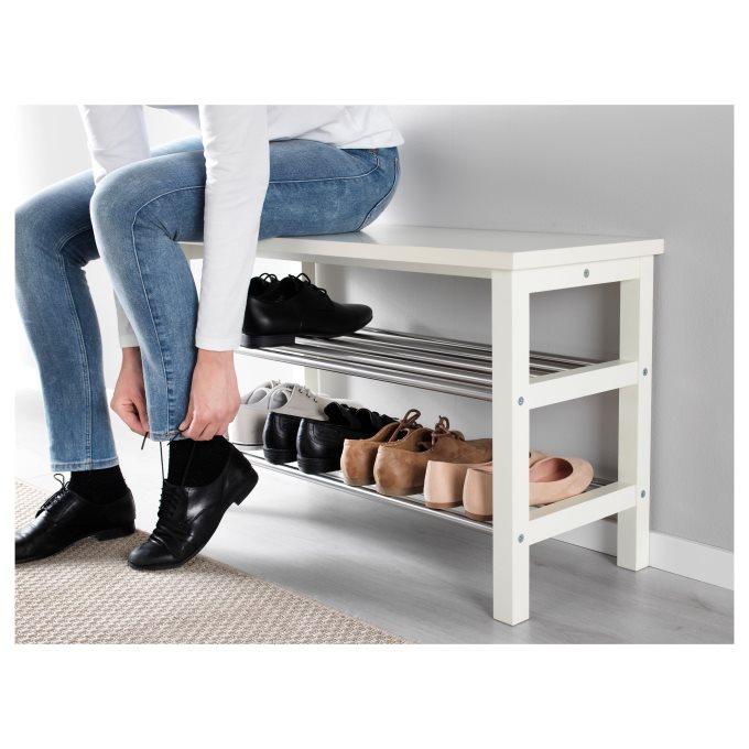 Tjusig Bench With Shoe Storage White Ikea Cyprus