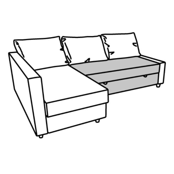 Friheten Corner Sofa Bed With Storage Grey Ikea Cyprus